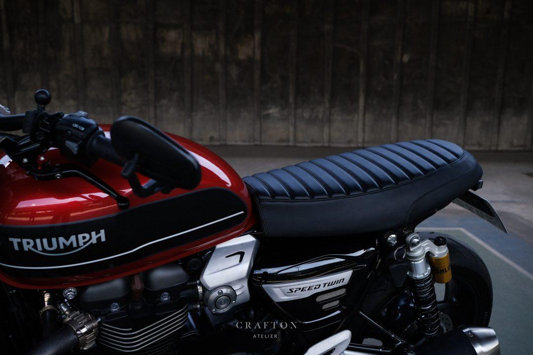 'RamblerR' Triumph Custom Seat for Triumph Speed Twin